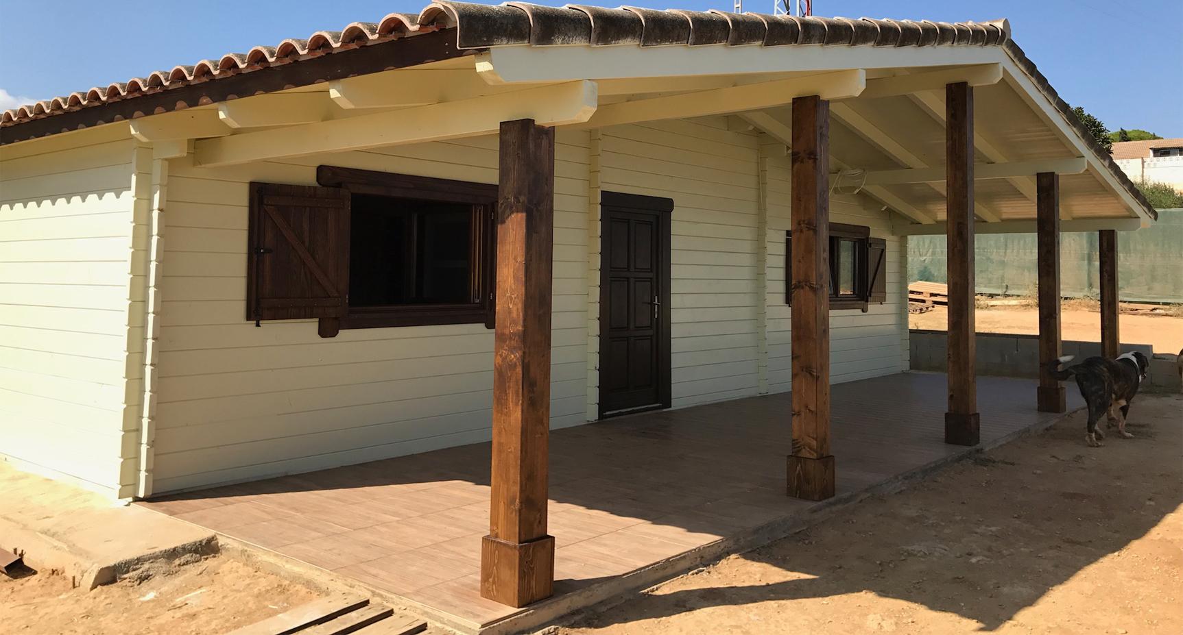 Triana con porche casas yustas Casas pequenas con porche